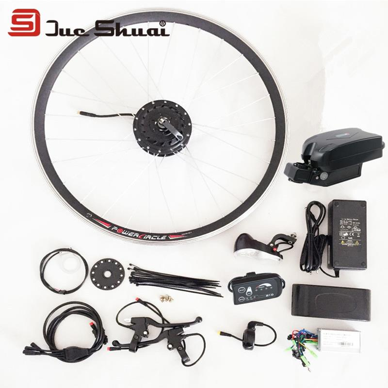 High Quality DIY 12 Parts Electric Bike Conversion Kit LED Display 24V 350W Battery Brushless Motor Throttle Brake Wheel Refit