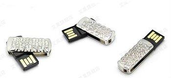 Full Capacity  Jewelry Crystal Rotatable Usb Flash Disk 2GB/4GB/8GB/16GB/32GB USB Flash Drive Pen Drive Usb Memory Stick