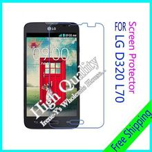 3pcs For LG D320 L70 Clear Glossy Screen Protector, Screen Protective Film For LG D320 L70 With Cloth