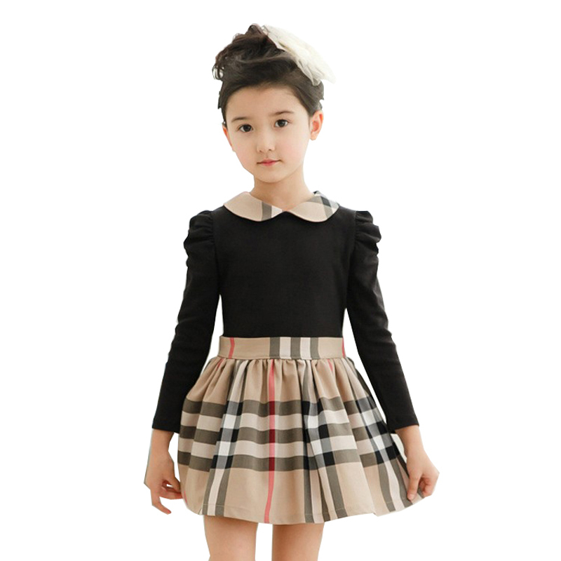Retail lovely kids clothes casual girl dress ruched children clothing 2016 new brand princess dresses cotton girls clothes(China (Mainland))