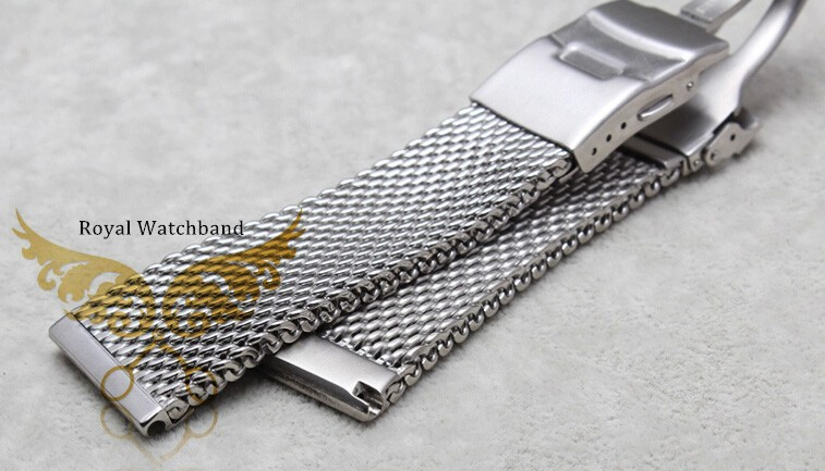 24 мм из нержавеющей стали Watchband бабочка развертывания пряжка застежка часы бесплатная доставка