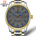 Carnival watch fully automatic mechanical watch male fashion diamond mens watch double calendar brief luminous watch