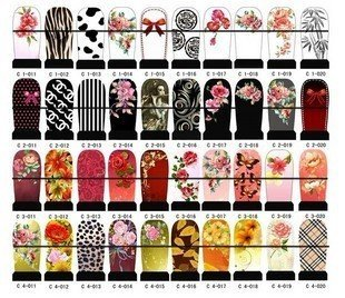 trendy nail art wraps sticker foils cover free shipping wholesale decals glitter metallic decoration