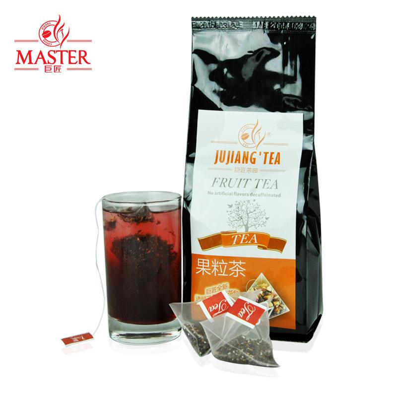 JUJIANG master black currant tea bags transparent selection of three dimensional triangular fruit tea bubble tea