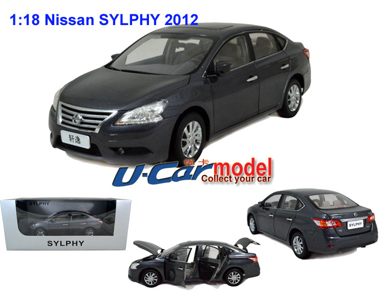 1pc/lot 1:18 China Nissan New Sylphy 2012 die-cast car model Grey color (New arrival)(China (Mainland))