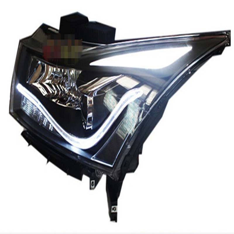 High Qutlity Led Angel Eye xenon HID Lamp Len Front Lamp Headlight Replacement for Chevy Cruze 2009 2010 2011 2012 Free shipping<br>