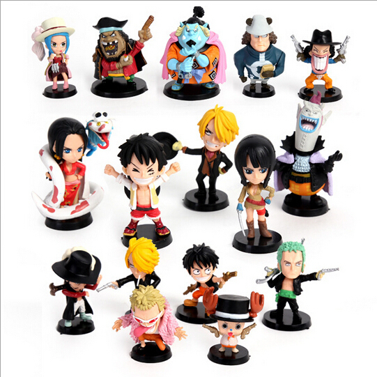 2013 Mcdonald happy meal toy One Piece action figure full set 9 dolls, anime onepiece figure, one piece pop FREE SHIPPING(China (Mainland))
