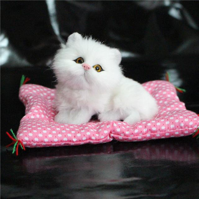 Вот это да!! супер Каваи Моделирования Кошки Плюшевые Игрушки Нажмите Зондирования Котят Кукла Детская Комната Украшения Подарки На День Рождения
