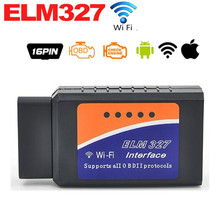 Buy 2017 High ELM327 Wifi Scanner Auto OBD2 Diagnostic Tool ELM 327 WIFI OBDII Scanner Wireless Android / IOS for $10.99 in AliExpress store
