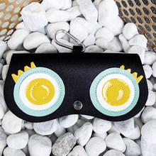 Óculos de Sol de presente Chaveiro Bolsa Portátil Bolsas Dos Desenhos Animados Com Grampo Bonito Decoração de Couro Artificial Caso Óculos de Proteção(China)