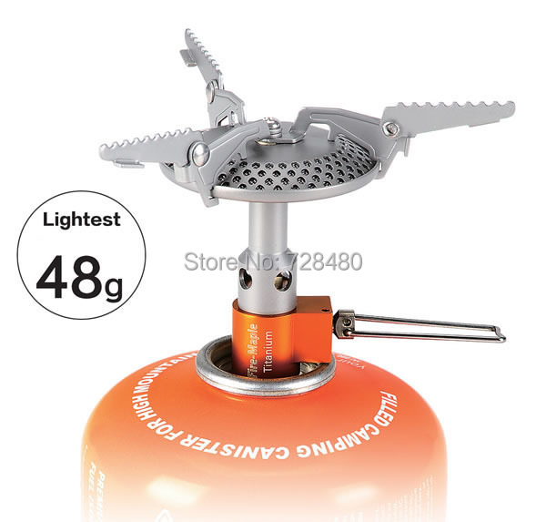 Free shipping outdoor camping titanium stove, cooking gas stove wilderness survival ultralight(China (Mainland))