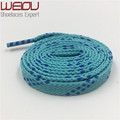 Weiou 1 pair 1 cm Width Kids Adult Blue Turquoise Athletic Sport Sneakers Flat Shoelaces Bootlaces