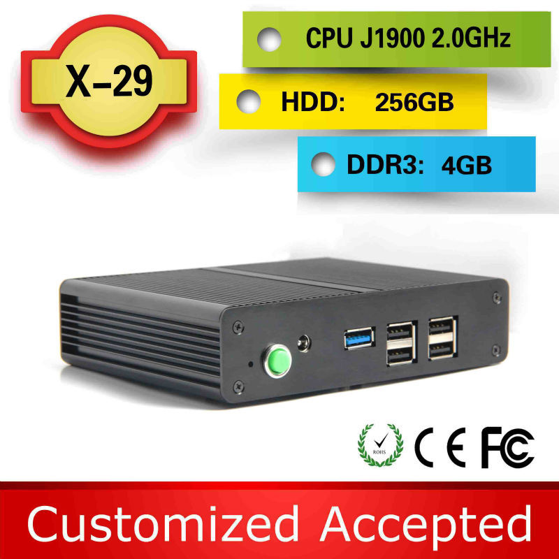 The cheapest X29 Celeron J1900 Quad Core 4g ram 256g ssd 12v mini computer cheap mini pc station thin client support Linux(China (Mainland))