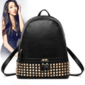 2016 Fashion Design PU Leather Women Backpack Casual School Bags For Teenager Girls High Quality Female