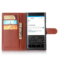 For BlackBerry Priv case Flip Wallet Luxury PU Leather With Stand Function&Card Slots Litchi Texture Phone bags