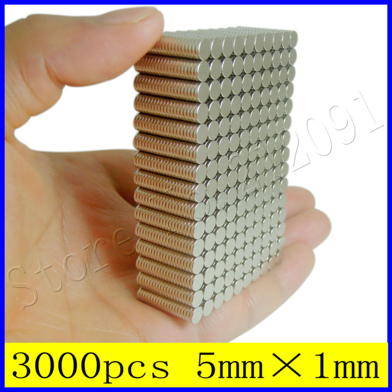 Гаджет  Wholesale 3000pcs 5mm X 1mm N35 Rare Earth Neodymium Strong Industrial Disc Magnet To Be Fixed In Place Using Araldite/Loctite1 None Строительство и Недвижимость