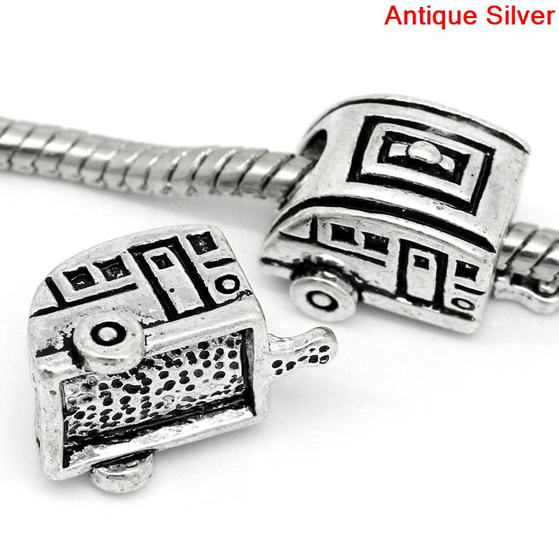 DoreenBeads European Charm Beads Car antique silver 10x17mm,Hole:Approx:5.3mm,10PCs 2015 new(China (Mainland))