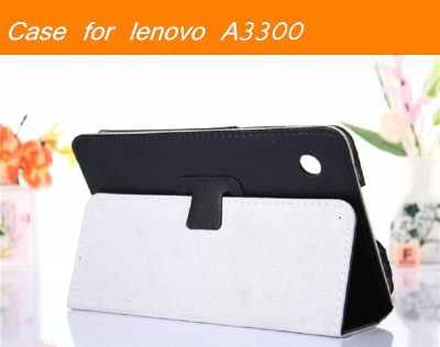 Dark Blue Purple Black Color Lenovo A3300 A7-30 Lenovo IdeaTab A3300 Case PU Leather Cover Flip Stand 7 inch Tablet PC(China (Mainland))