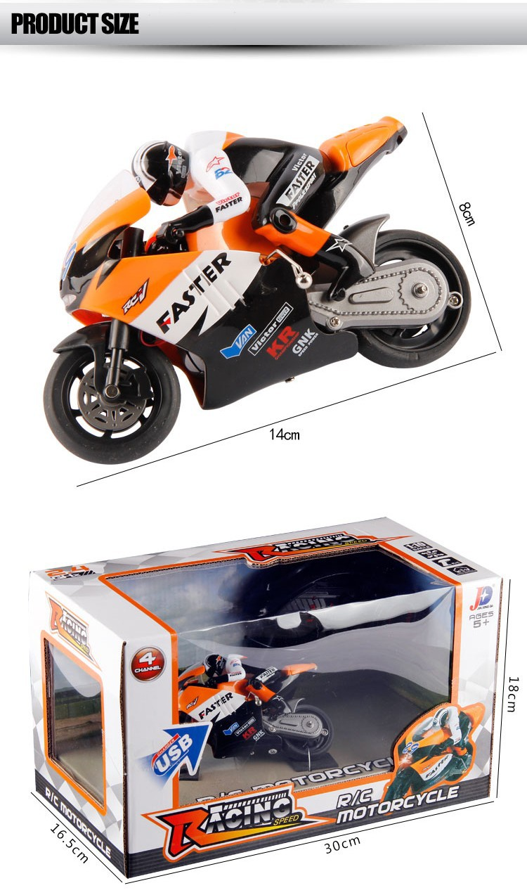 Hot Selling JXD 806 RC Remote Control Motorcycle 1/16 Scale 4CH 2.4G Boys Electric Toys Radio Children Gift moto JXD806