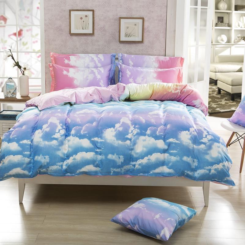 New arrival home textile reactive print 4pcs bedding sets - King size bed sheet set ...