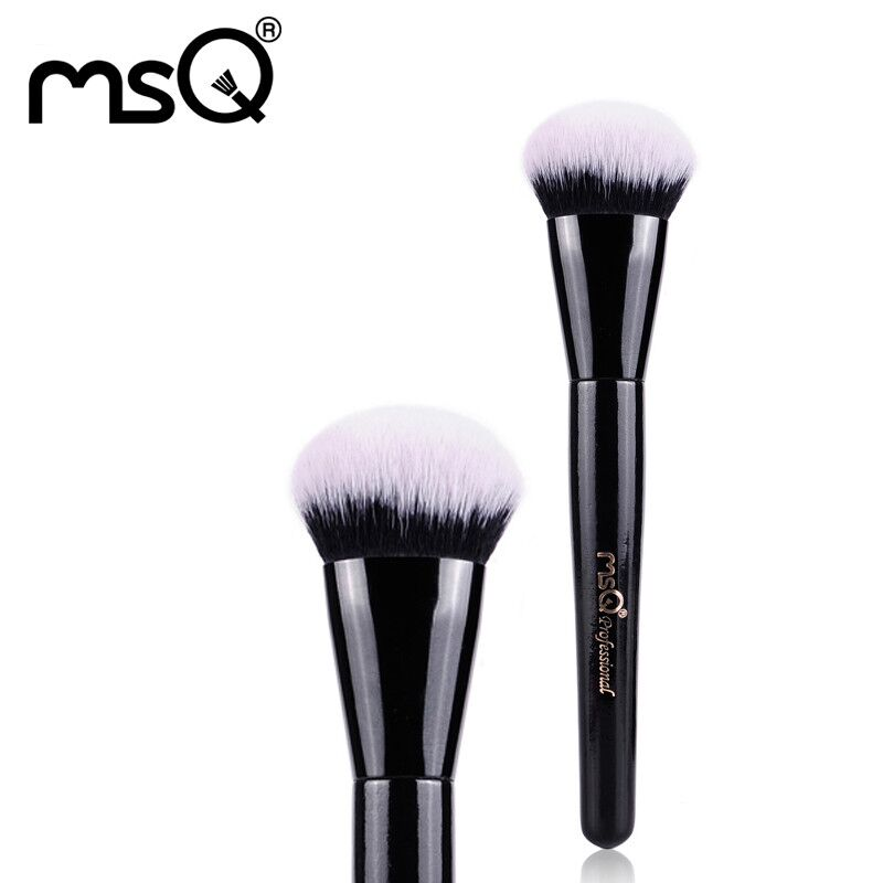 Hot!!MSQ New Product Single Foundation Black Synthetic Makeup Brush  Big Wood Handle Cosmetic Make up kit  Free Shipping<br><br>Aliexpress