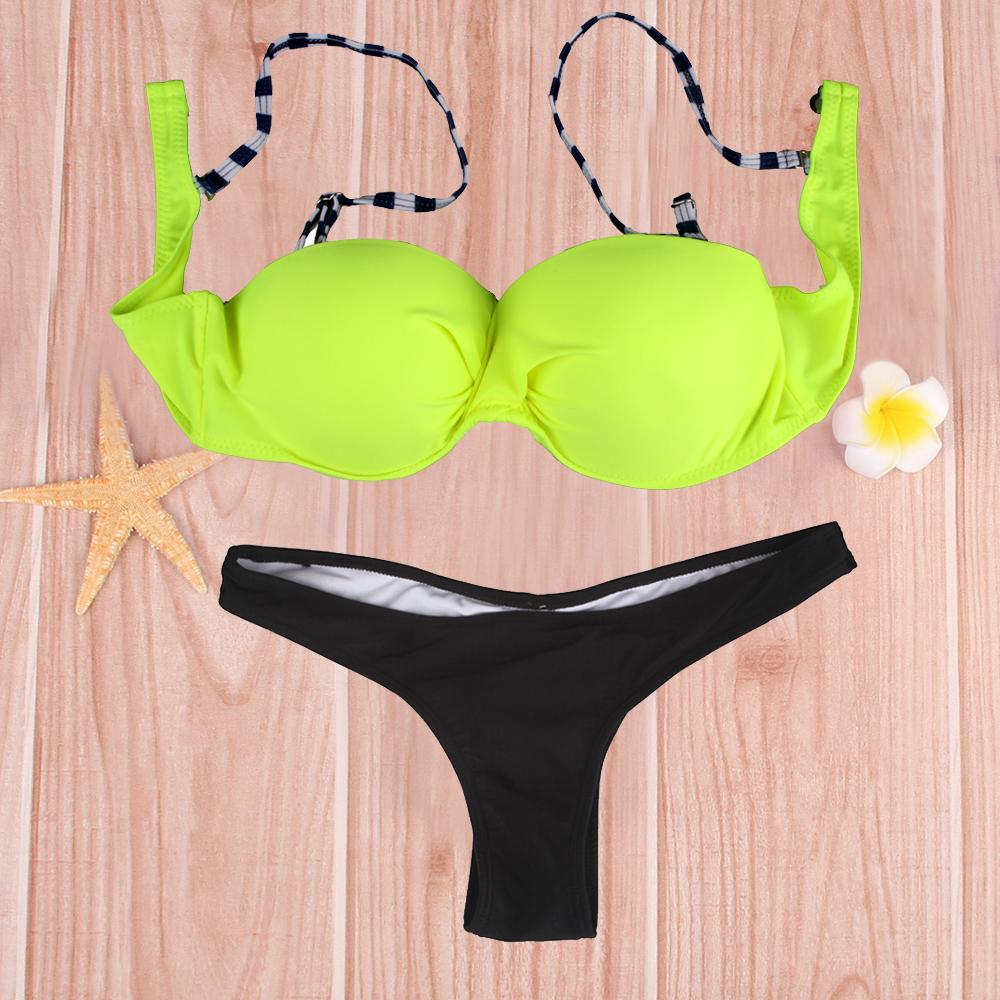 2016 Sexy Women Girls Bikini Set Tankini Swimsuit Lady Push Up Two Piece Set V Shape Underwear Swimwear Biquini Bikino Bikinit(China (Mainland))