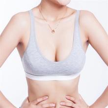 Fashion Women 100% Cotton Bust Push Up Yoga Sports Bra Underwear Bra 70 75 80 85 Size (32 34 36 38) For Freeshipping