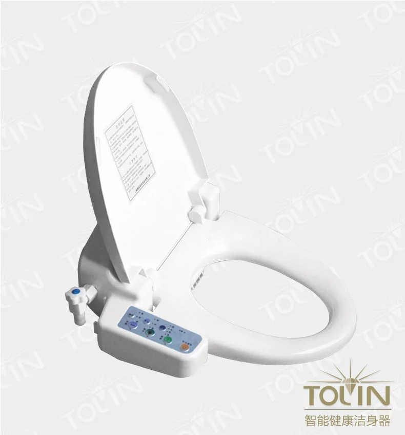 681a electric intelligent toilet cover smart potty bargeboard bidet automatic heated(China (Mainland))