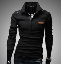 Men Sweater Solid Color Cotton Knitted Turn Down Collar 2015 Thick Winter Fashion Casual Pullovers Full Sleeves Men Sweater(China (Mainland))