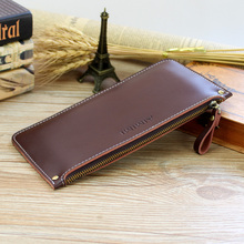 Buy Men Genuine Leather Wallets Women Design Ultra-Thin Long Clutch Bag Female Card Holder Coin Purse Unisex Wallets Carteras Mujer for $11.98 in AliExpress store