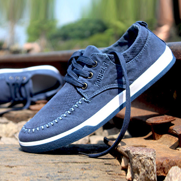 Men Canvas Sport Sneakers Summer 2015 New Autumn Spring Fashion Brand Eur Size 39-44 Washed Demin Male Casual Flat Shoes 723(China (Mainland))
