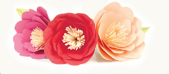 5 designs of 10 x 16 pretty diy paper flower tutorials for home wedding party decoration