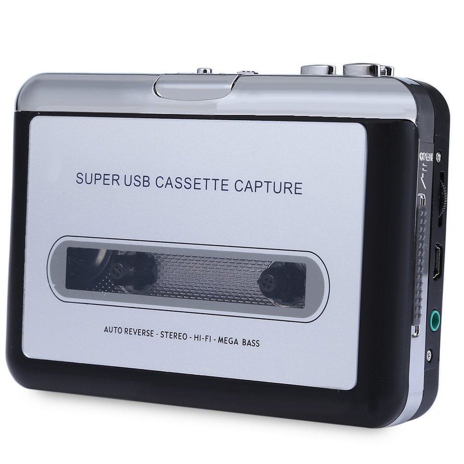 EC007 Portable Cassette To MP3 Player Converter Support Recording Transferred to Audio CD Saved as WAV MP3 Audio Files