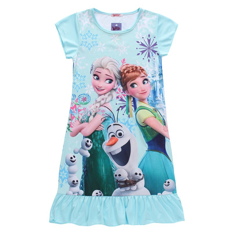 Girls Anna&Elsa dress (Whosebaby) New 2016 Brand children clothing girls dress kids girls princess dress party dress nightgown(China (Mainland))
