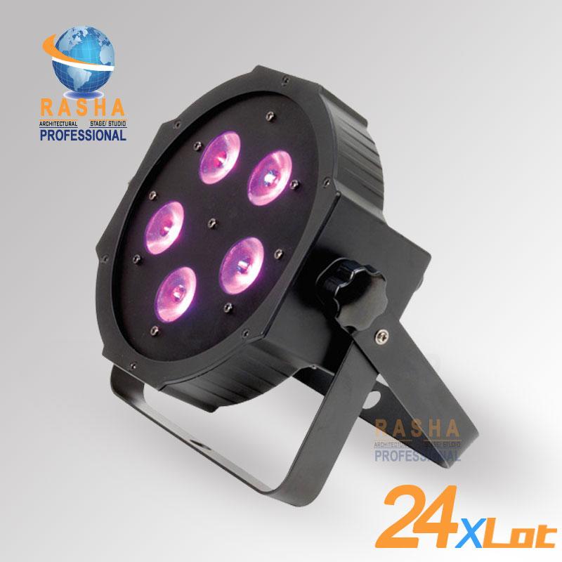 Фотография 24X LOT Penta V5 Profile 5pcs*15W 5in1 RGBAW LED Par Profile,LED Mega Profile Light,Disco Stage Par Light for Event Party