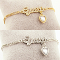 Fashion heart crystal charm stretchy chain bracelets femme bijoux trendy jewelry for women girls pulsera cristal