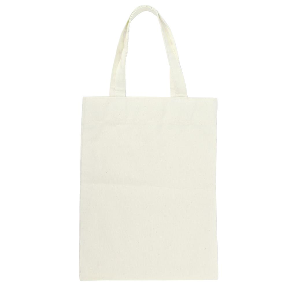 Plain White Canvas Shoulder Bag 23