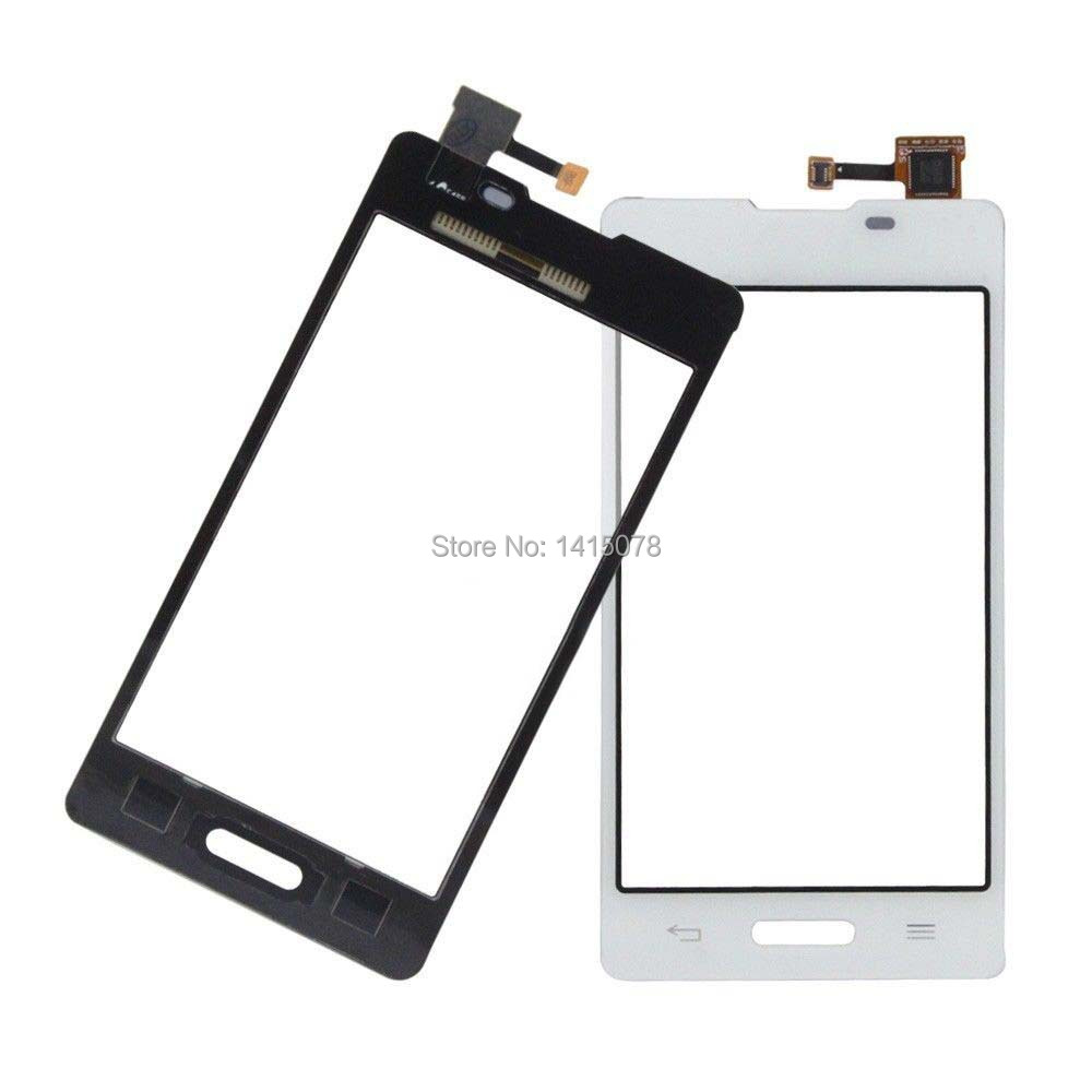 For White LG Optimus L5 II 2 E460 E450 New Touch Screen Digitizer Glass Len Replacement Parts With Tracking Number