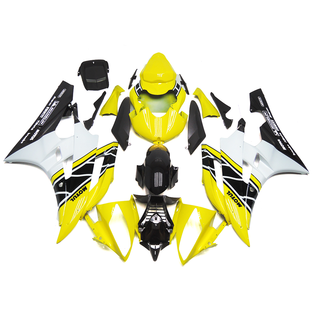 Injection Fairings For Yamaha YZF600 R6 06 07 2006 2007 ABS Motorcycle Full Fairing Kit Bodywork Cowling 50th Anniversary Yellow(China (Mainland))