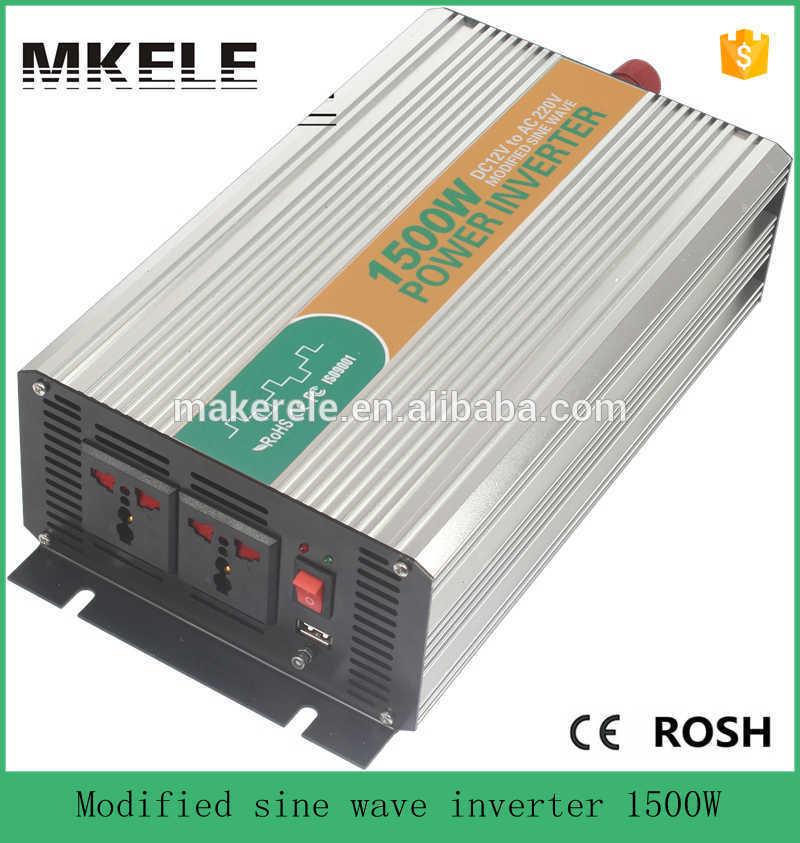 Фотография MKM1500-121G high efficiency modified sine wave 110vac micro inverters power inverter 1500w inverter distributor 12vdc input
