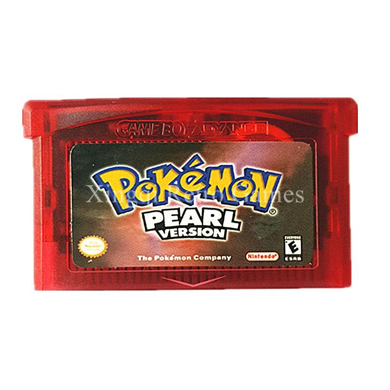Nintendo GBA Game Pokemon Pearl Video Game Cartridge Console Card English Language Version