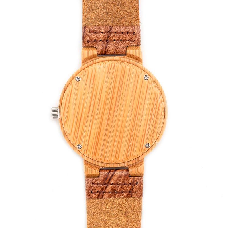 БОБО ПТИЦА Марка Деревянные Часы Ручной Работы Кожаный Ремешок Деревянные Наручные Часы Бизнес Случайный Часы для Мужчин и Женщин D17