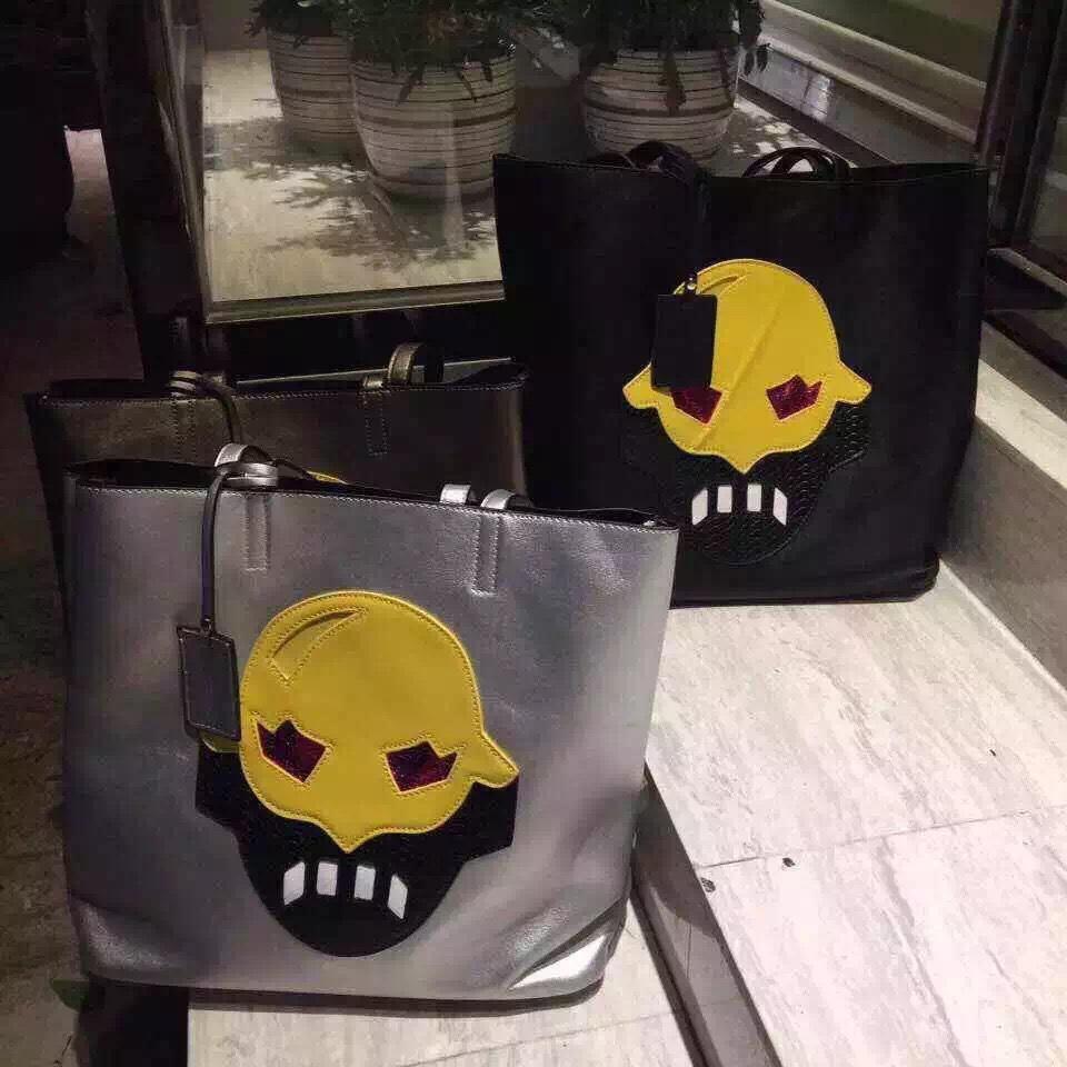 new arrival exquisite big composite bag silver black cartoon shoulder bags women lady korean fashion dating shopping handbags(China (Mainland))