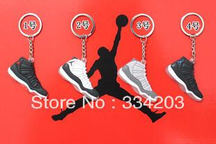 Wholesale 4 colorsAir Jordan11 fans Accessories jordan AJ11 keychain keyring souvenirs