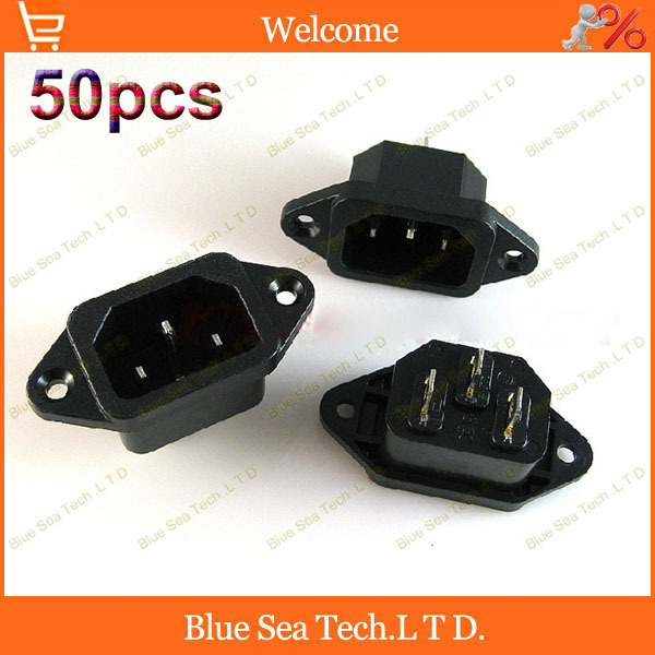 50pcs 10A 250V 3Pin AC power socket/plug,UPS PDU socket ABS+Brass CCC CE Certification,Free Shipping<br><br>Aliexpress
