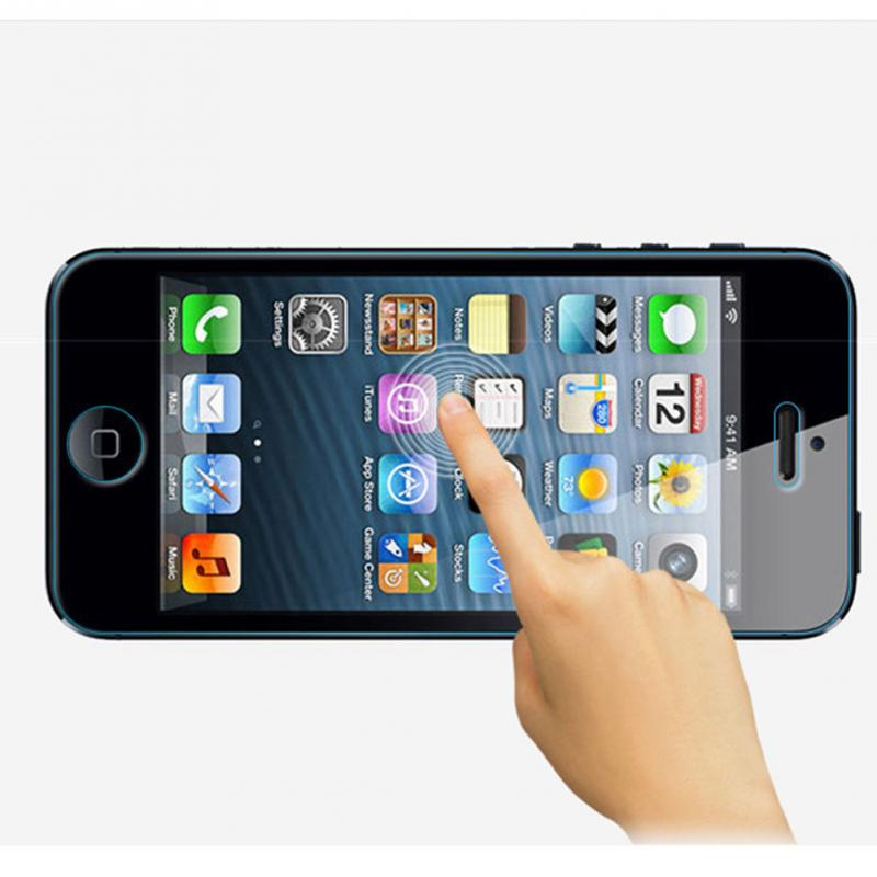 2pcs/set New Type 0.26mm 2.5D High Definition Arc Edge Reinforced Glass Mobile Phone Protective Film For Phone 5 5S 5C(China (Mainland))
