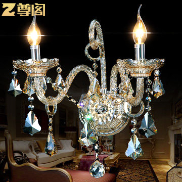 Modern Wall Lamps Europe : Modern luxury crystal wall lamp European bedroom bedside wall sconces light fixture lamp-in Wall ...