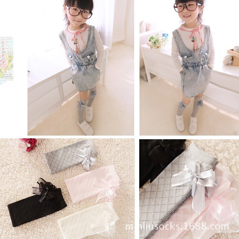 Winter Girls Stocking High Knee Princess Solid Cotton Dress Ballet Sockings Leg Warmers Diamond Tube leggings For Baby Girl(China (Mainland))