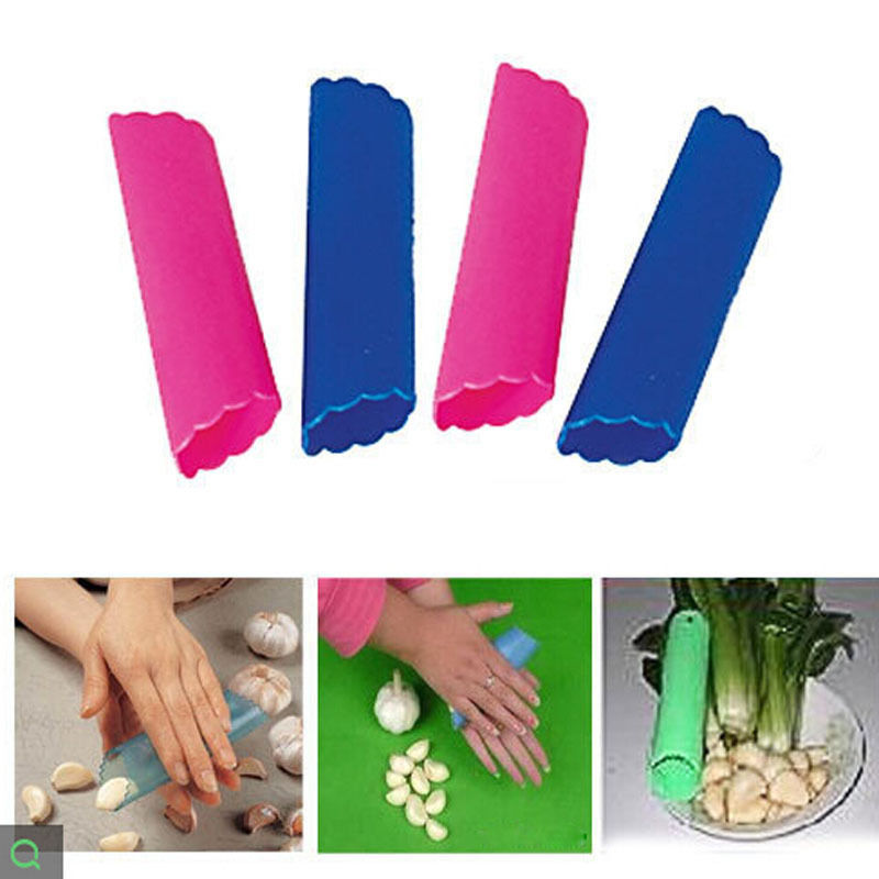 Random Color!! Garlic peelers & zesters kitchen cooking tools 13*3.5cm practical healthy Silicone Garlic Peeler Peel(China (Mainland))