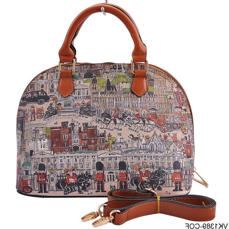 2014 New Arrival Vintage Print PU leather Tote Bags Designers Women Handbags Fashion Bag VK1389(China (Mainland))